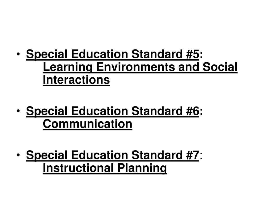Special Education Standard #5