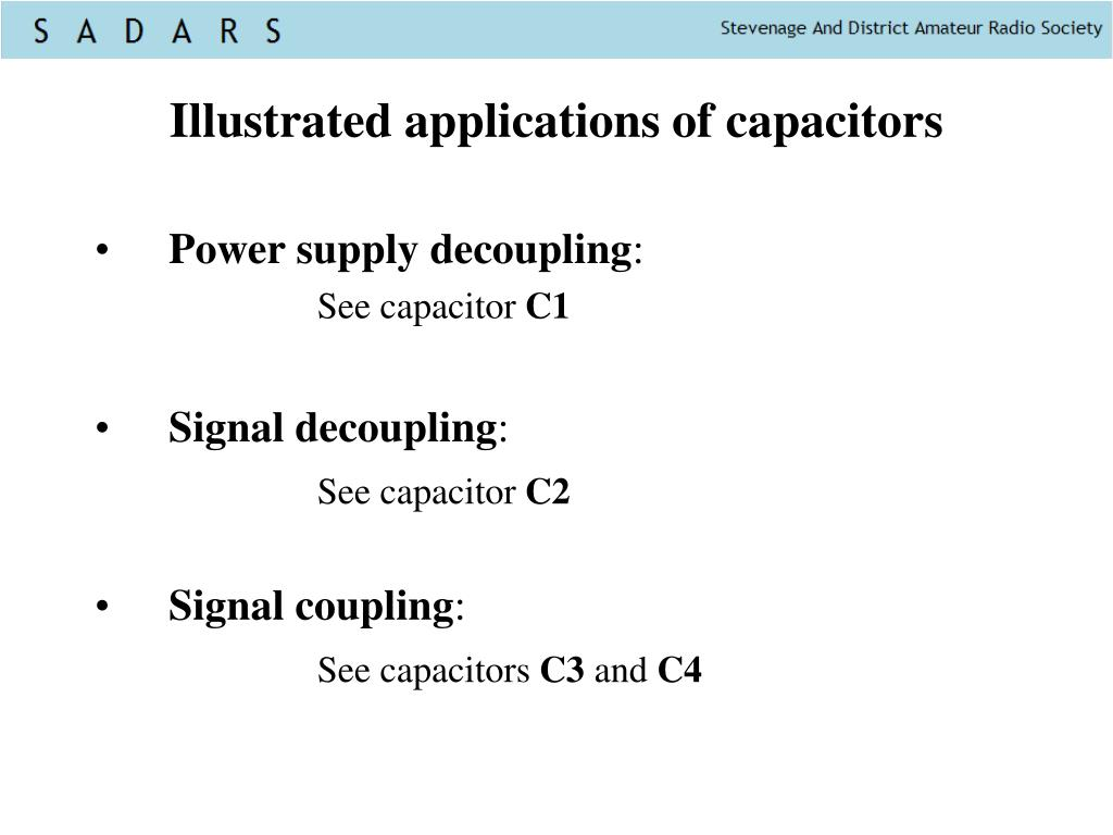 Illustrated applications of capacitors