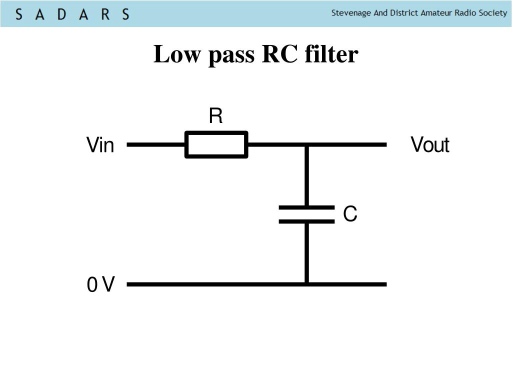 Low pass RC filter