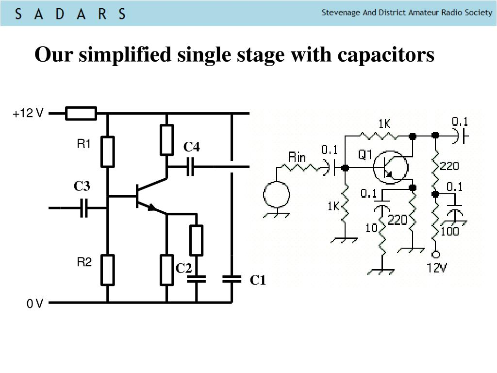 Our simplified single stage with capacitors