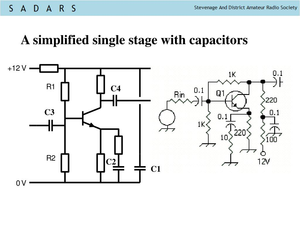 A simplified single stage with capacitors