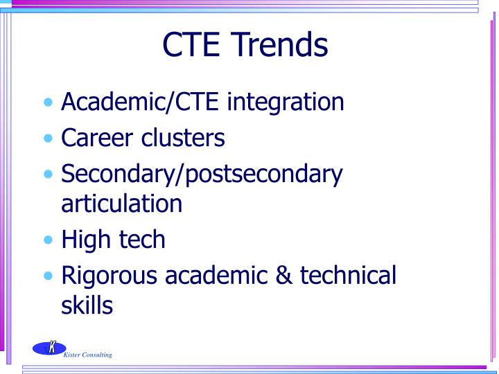 CTE Trends
