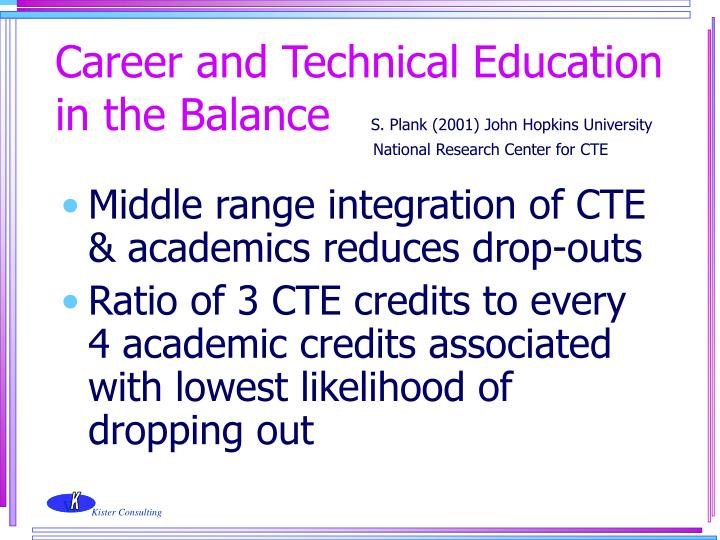 Career and Technical Education in the Balance