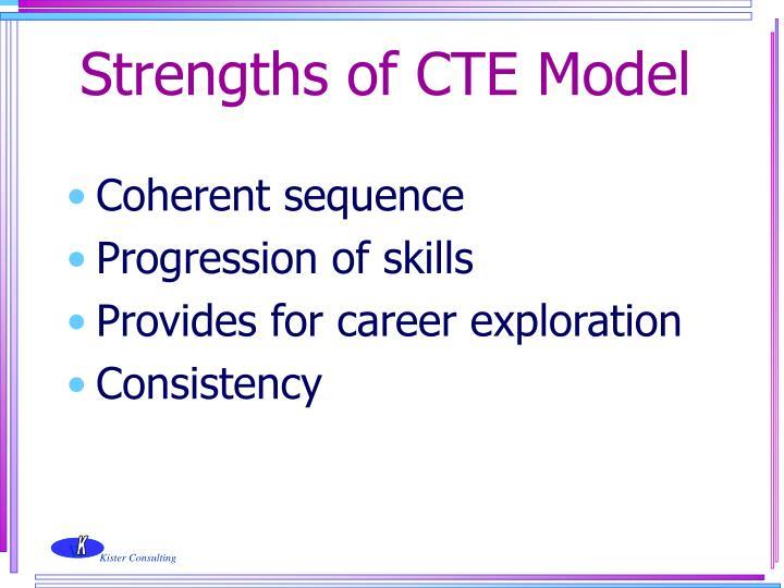 Strengths of CTE Model