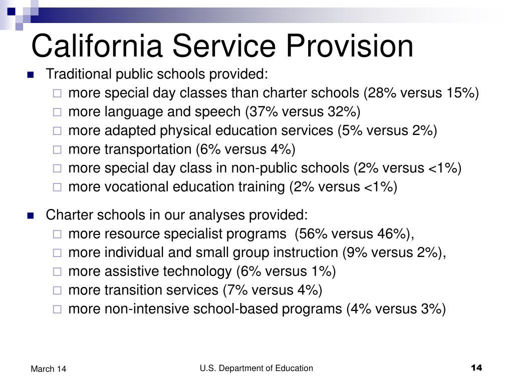 California Service Provision