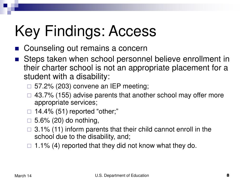 Key Findings: Access