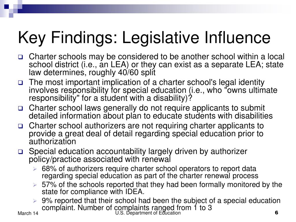 Key Findings: Legislative Influence