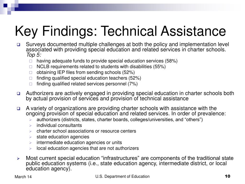 Key Findings: Technical Assistance