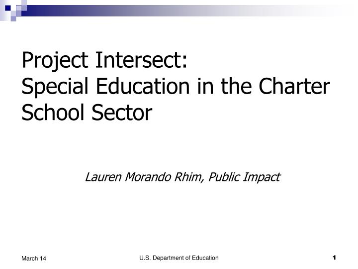 Project intersect special education in the charter school sector