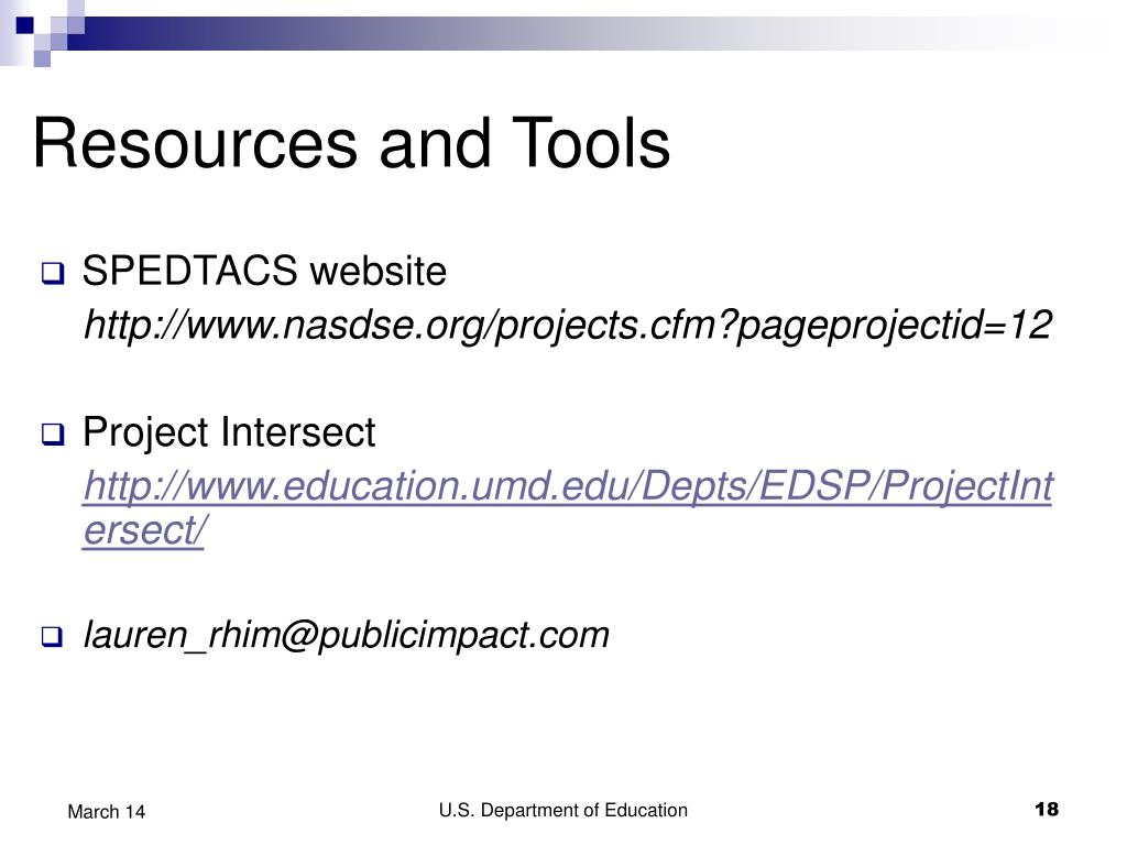 Resources and Tools