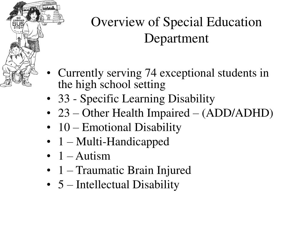 Overview of Special Education Department
