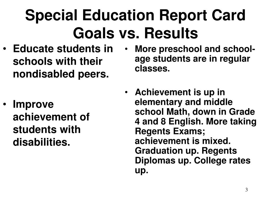 Educate students in schools with their nondisabled peers.