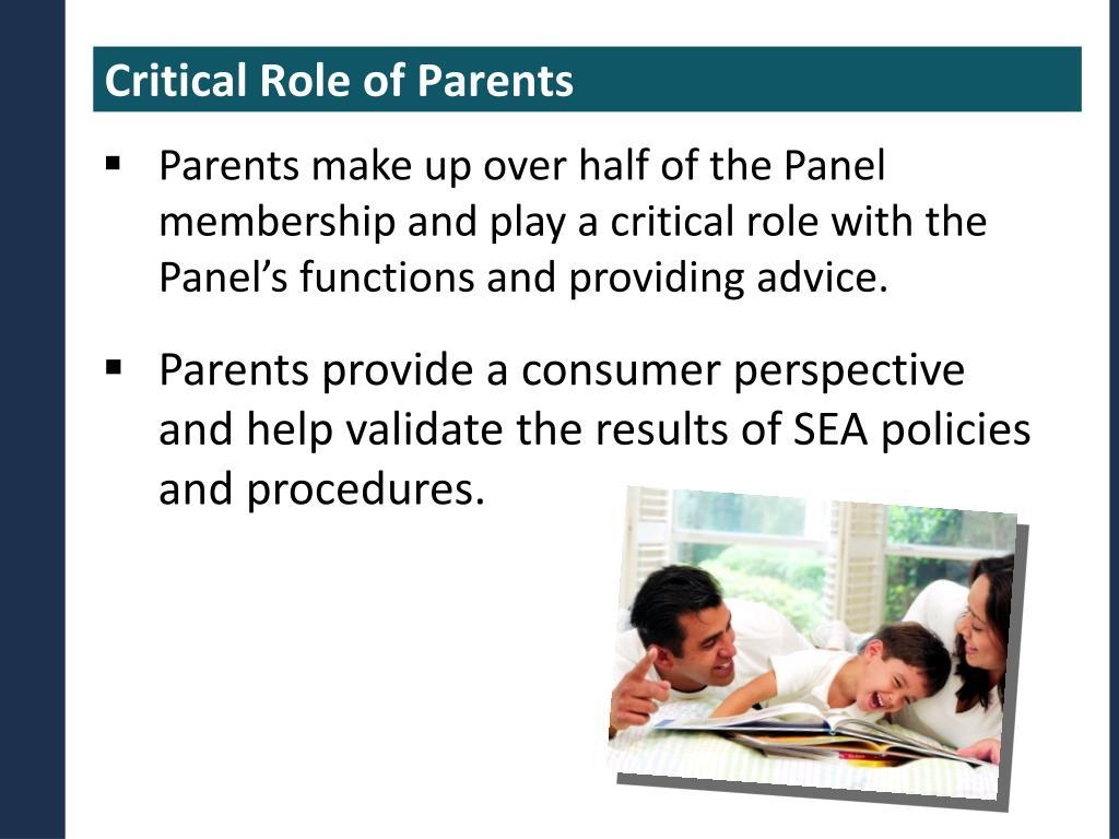 Critical Role of Parents
