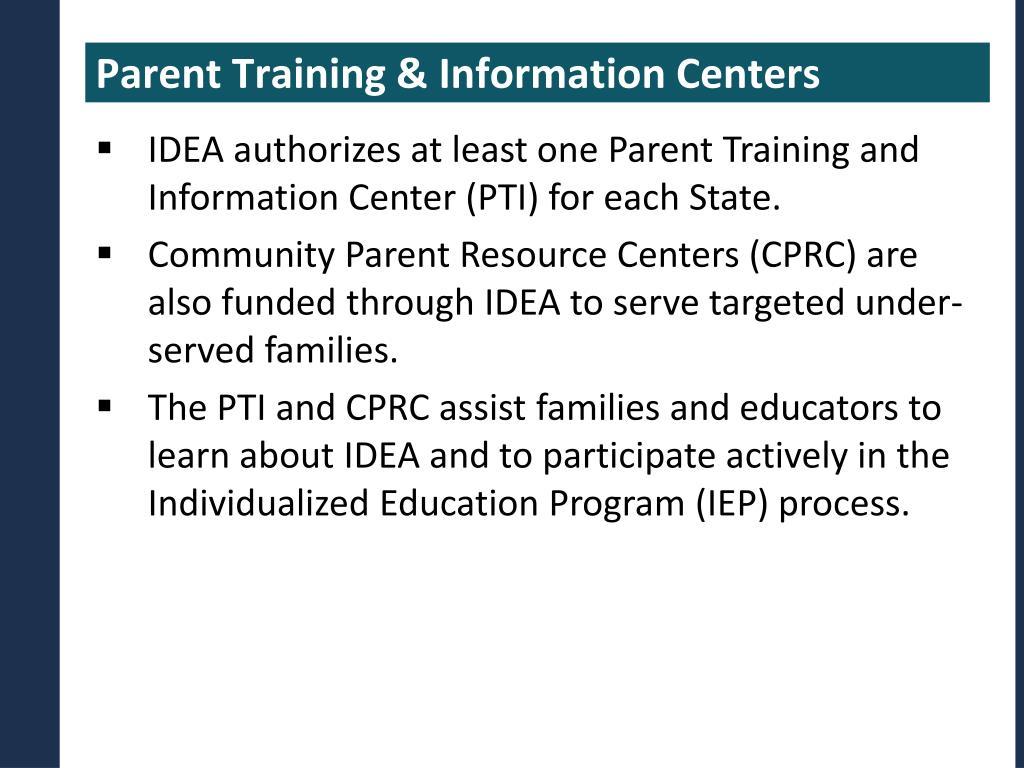 Parent Training & Information Centers