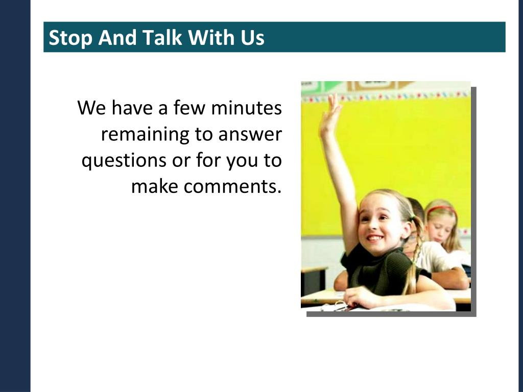Stop And Talk With Us