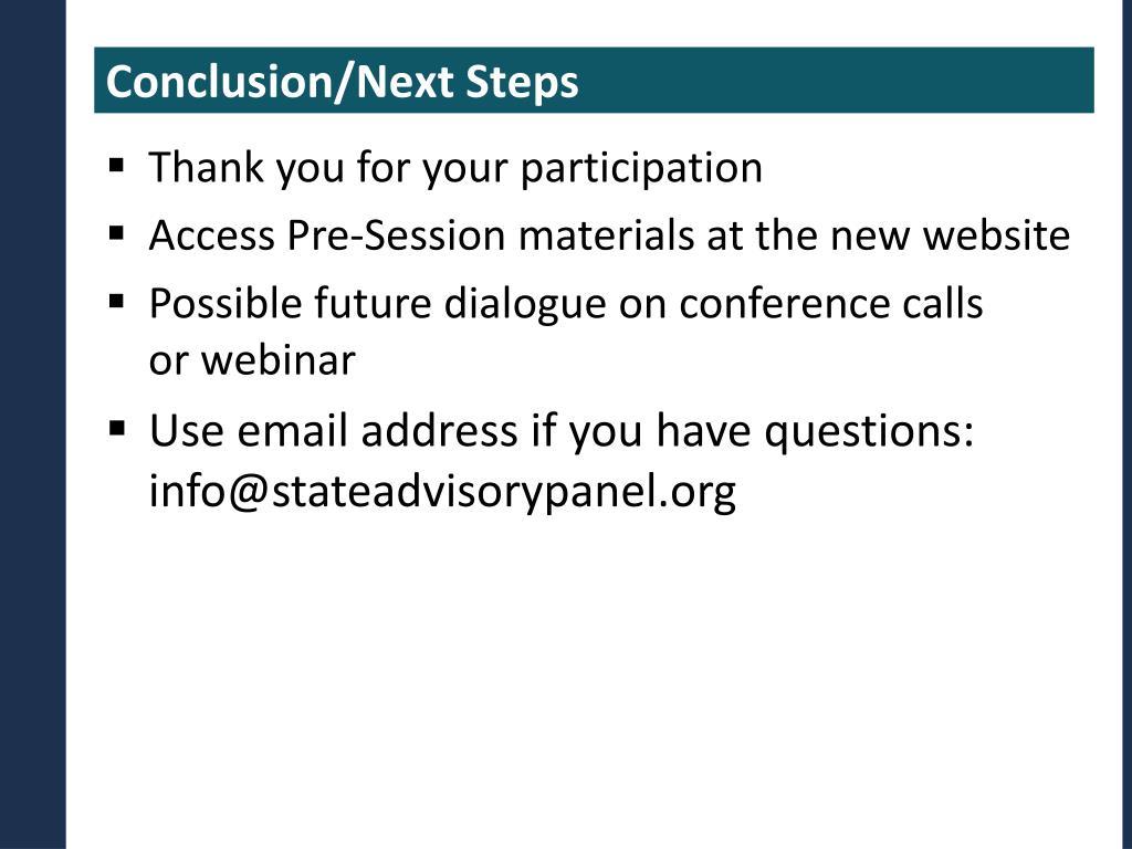 Conclusion/Next Steps