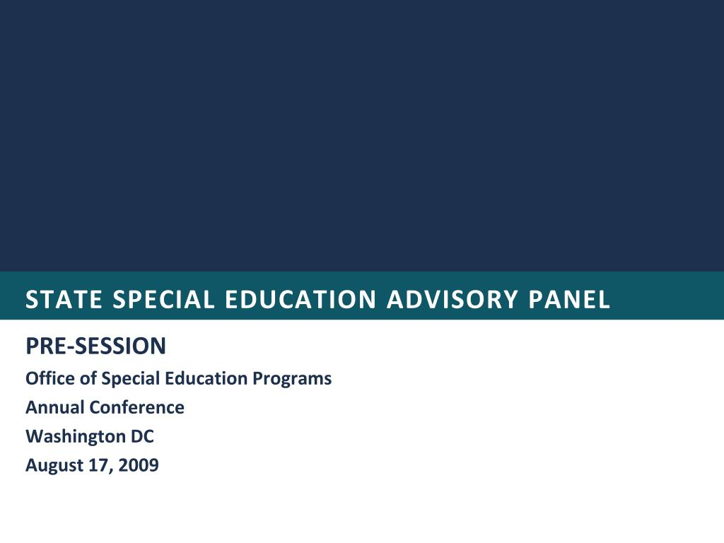 state special education advisory panel