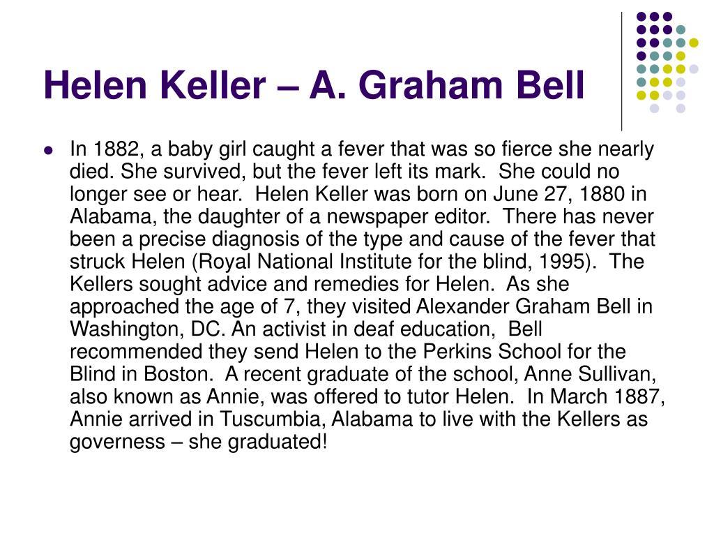 Helen Keller – A. Graham Bell