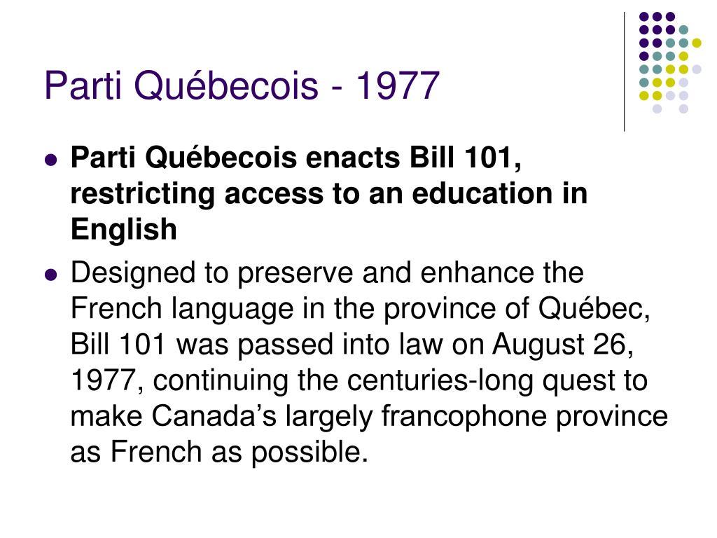Parti Québecois - 1977