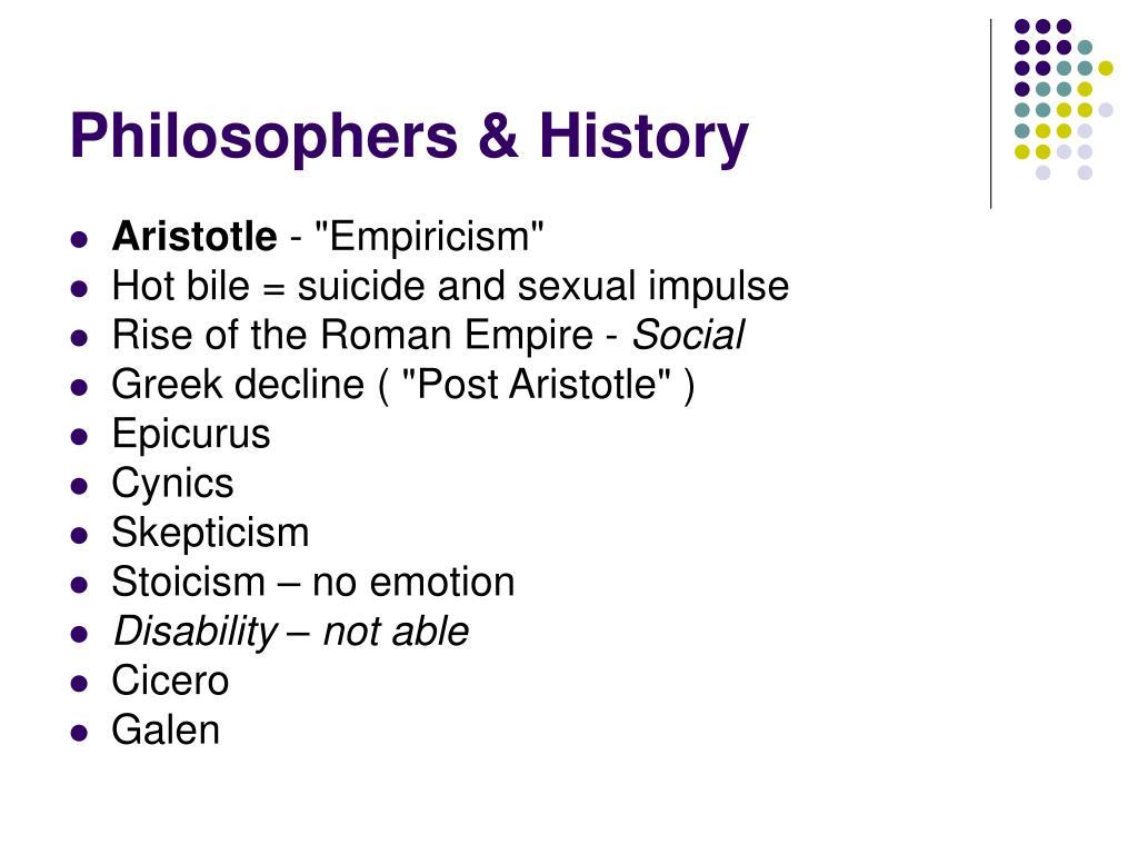 Philosophers & History