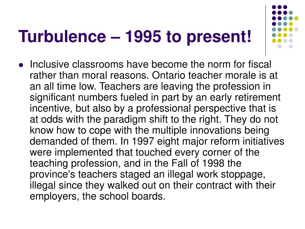 Turbulence – 1995 to present!