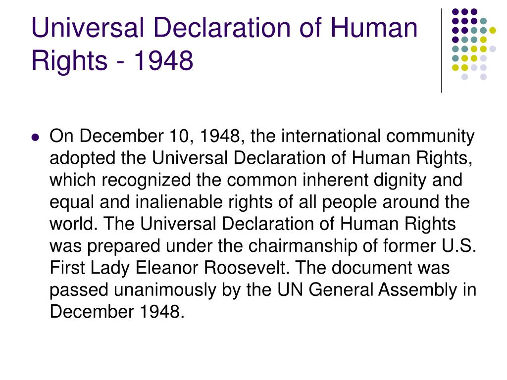 Universal Declaration of Human Rights - 1948