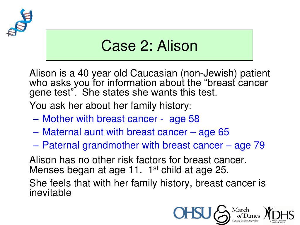 Case 2: Alison