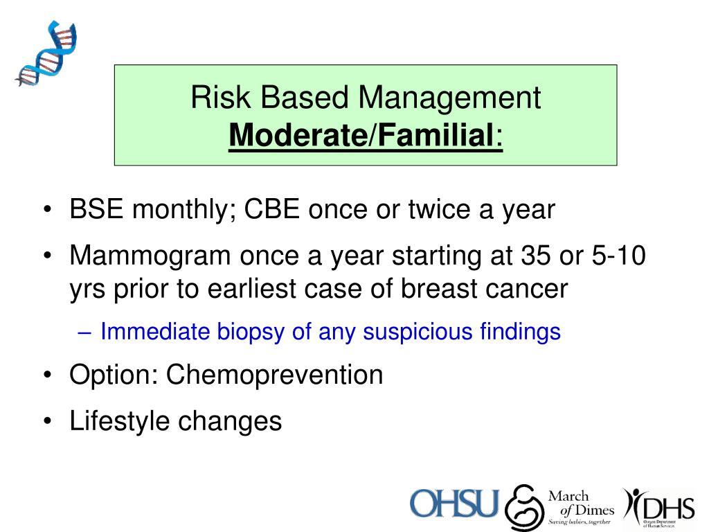Risk Based Management