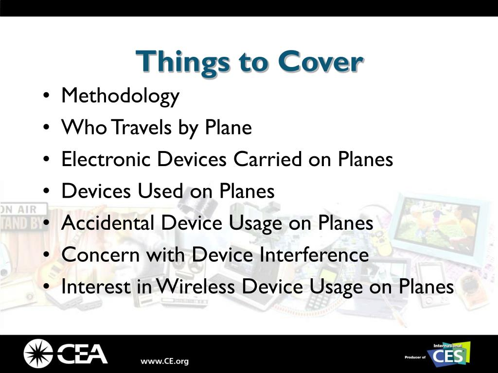 Things to Cover