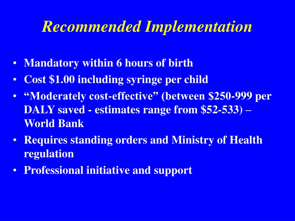 Recommended Implementation