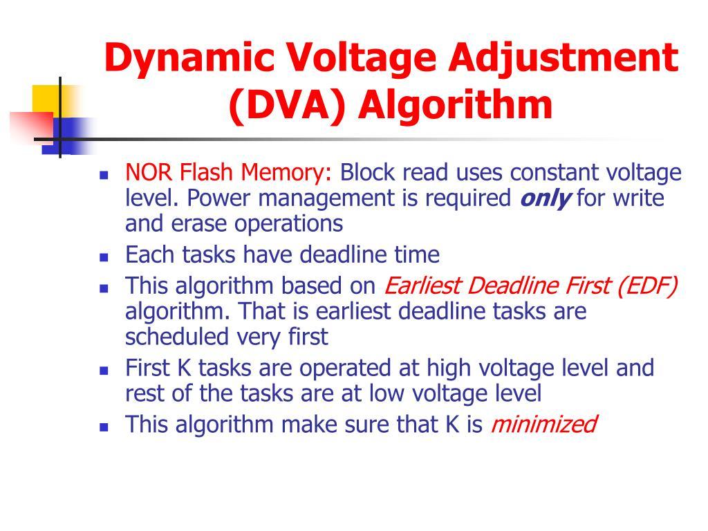 Dynamic Voltage Adjustment (DVA) Algorithm