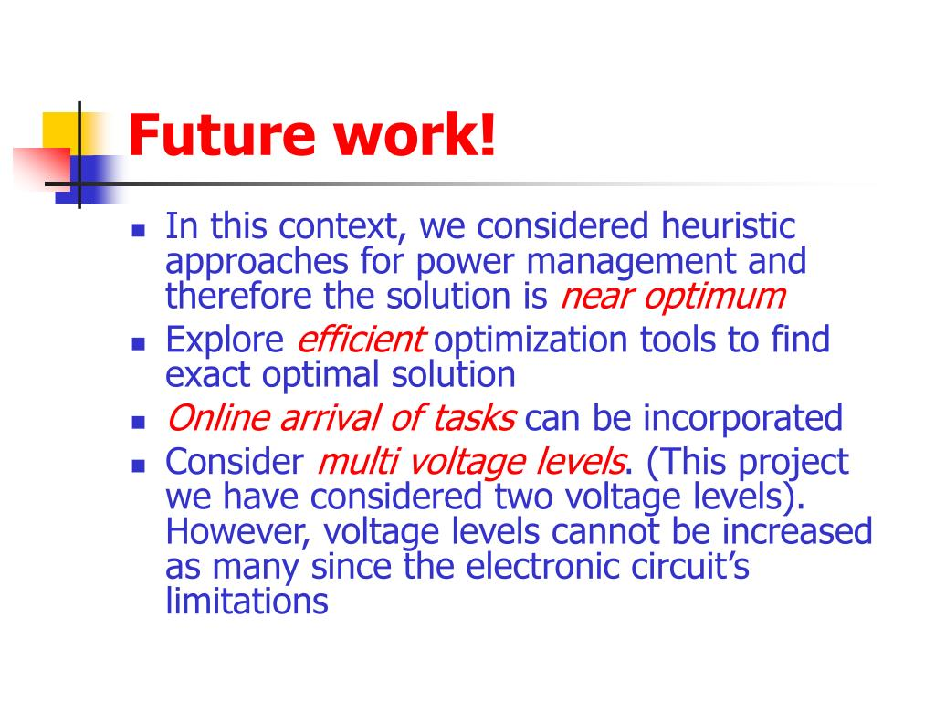 Future work!