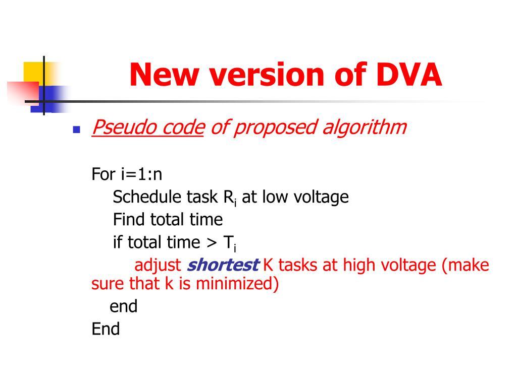 New version of DVA