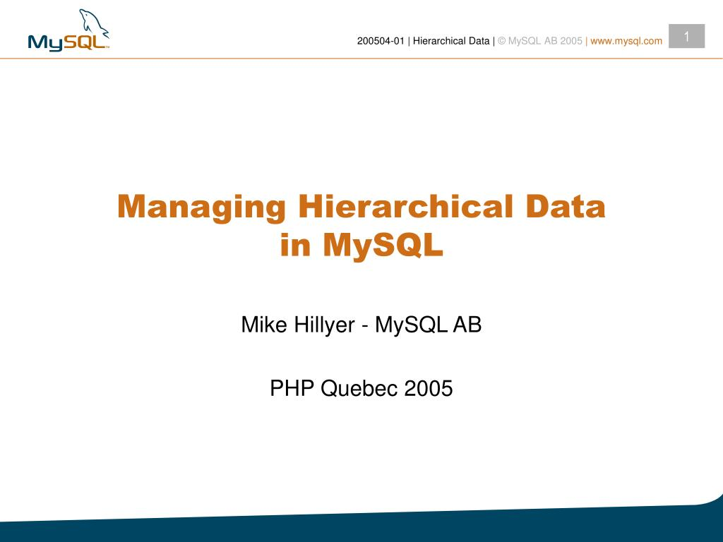 managing hierarchical data in mysql