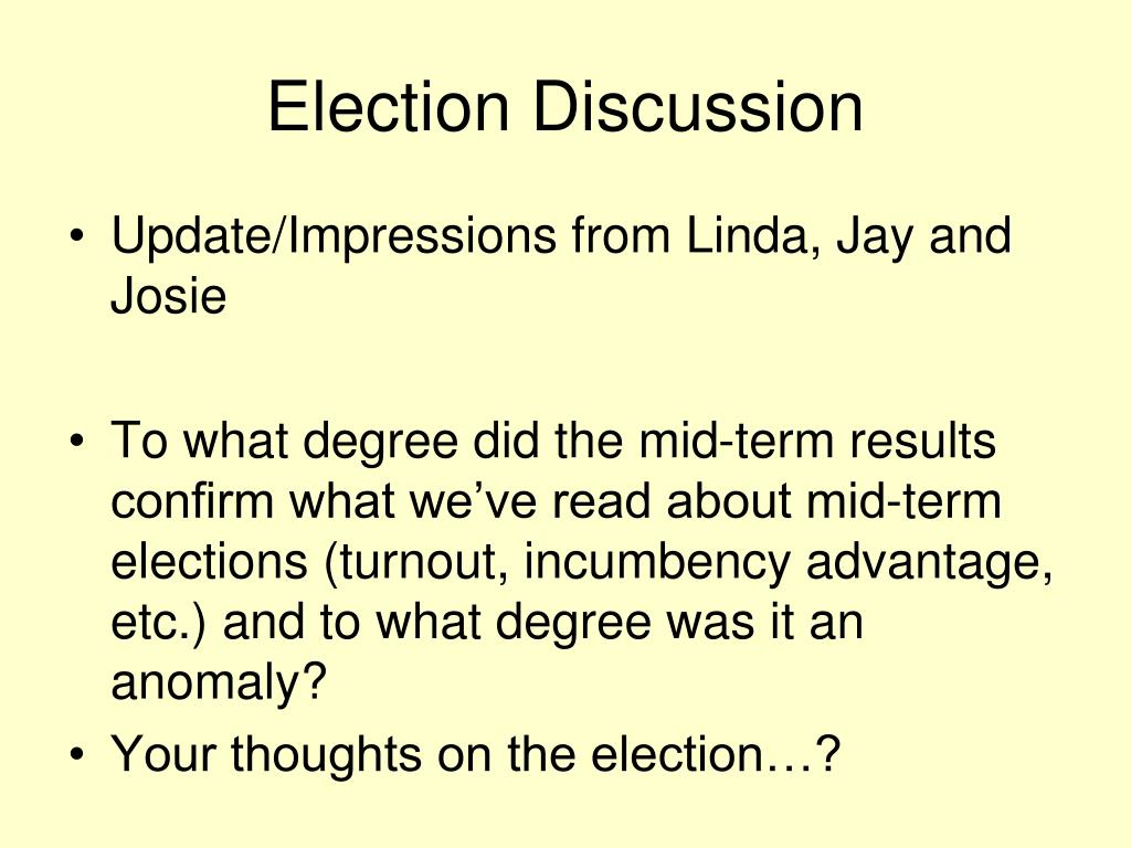 Election Discussion