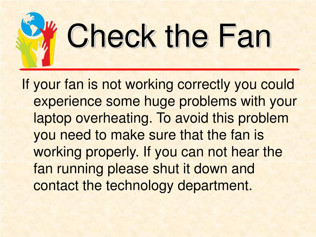 Check the Fan