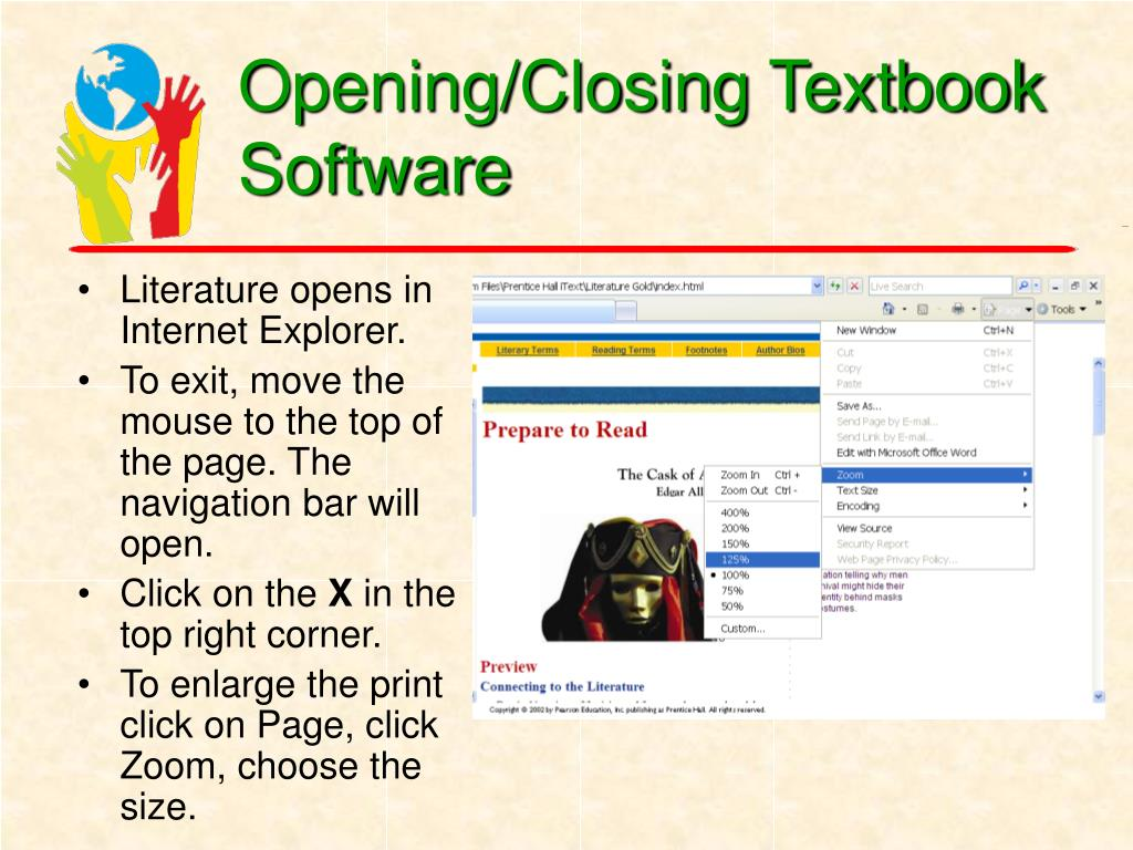 Opening/Closing Textbook Software