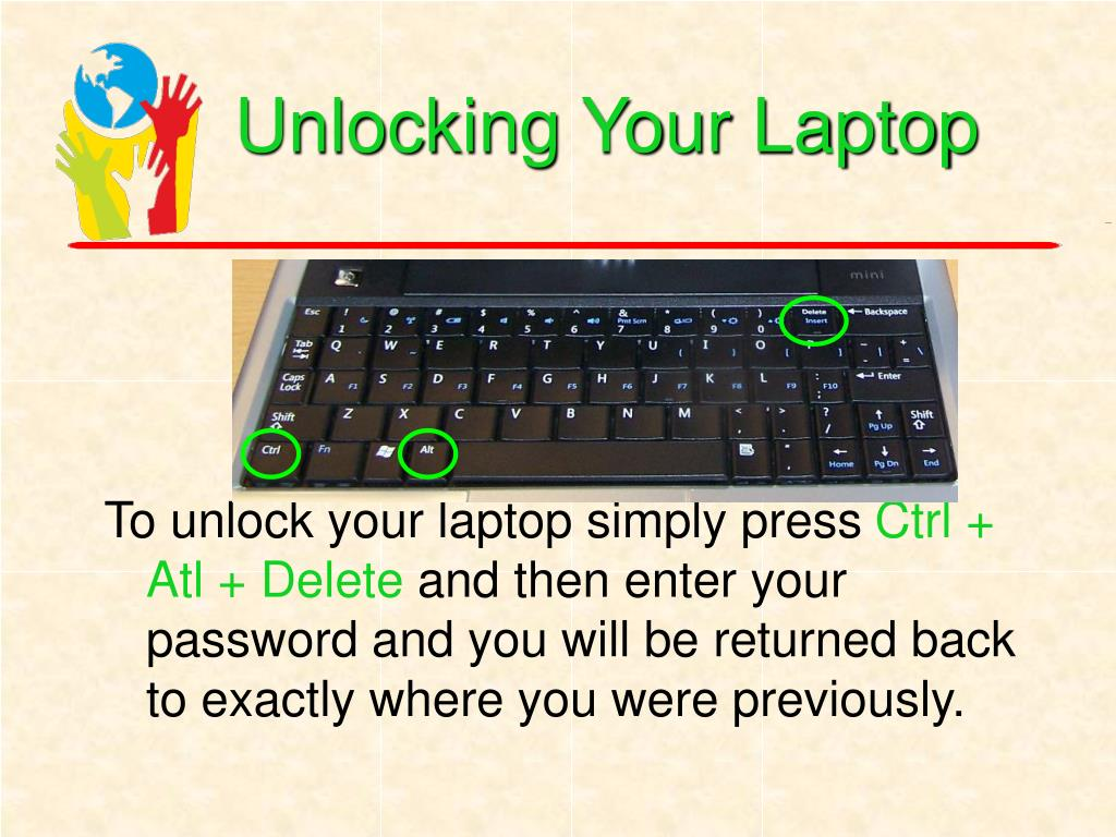 Unlocking Your Laptop