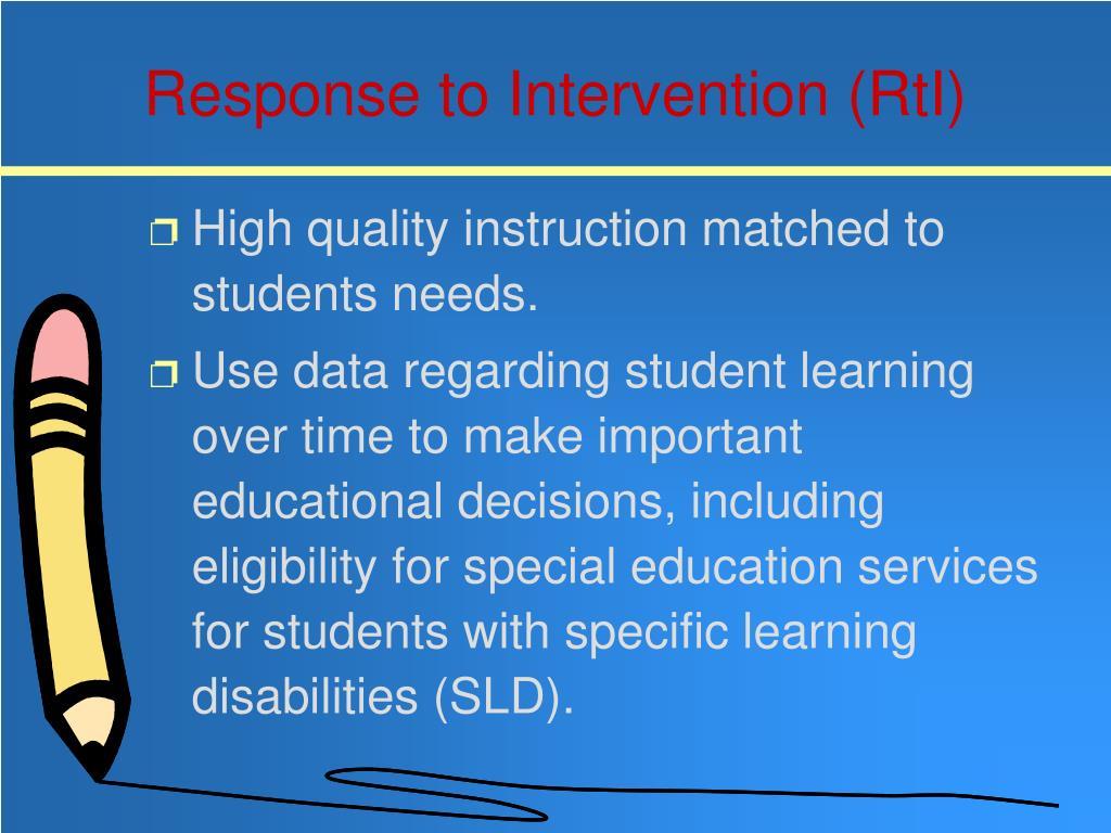 Response to Intervention (RtI)