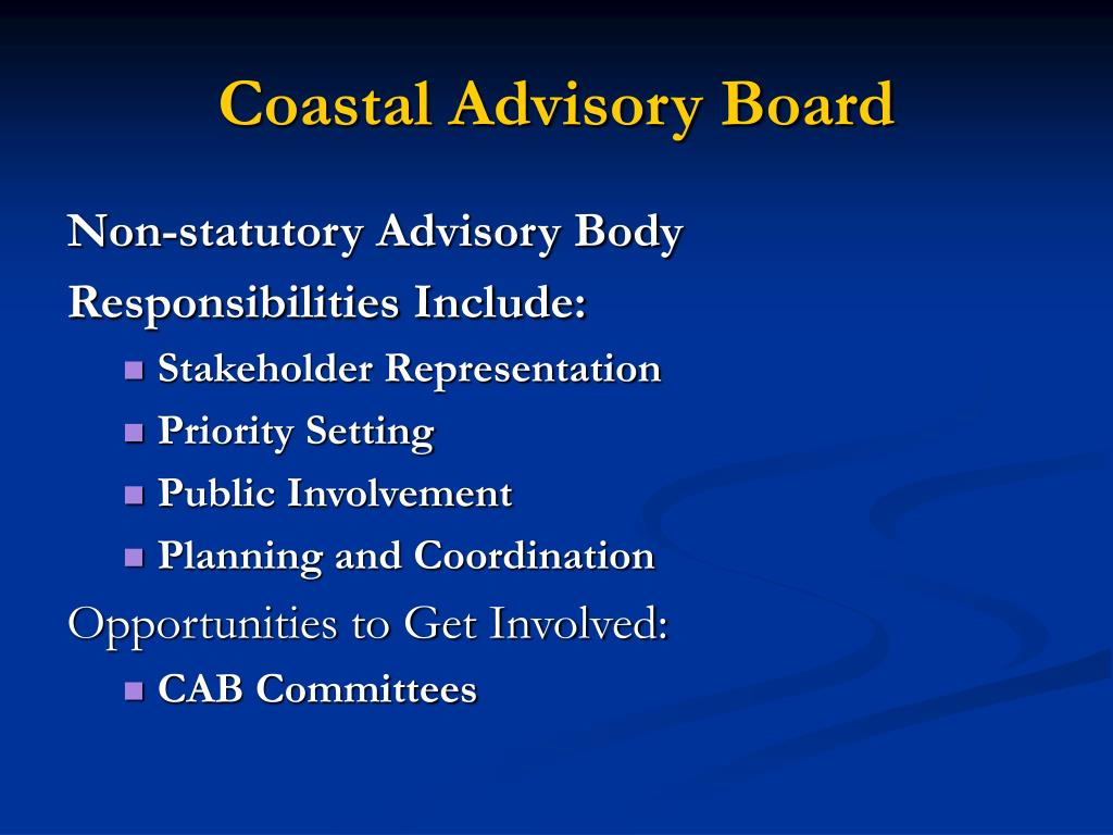 Coastal Advisory Board