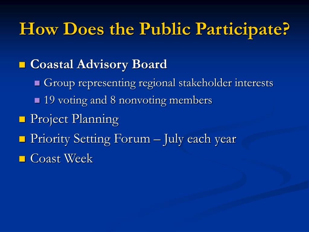 How Does the Public Participate?