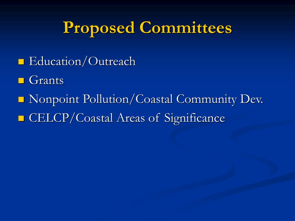 Proposed Committees