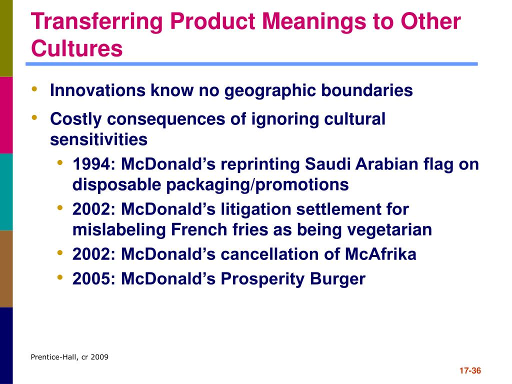 Transferring Product Meanings to Other Cultures