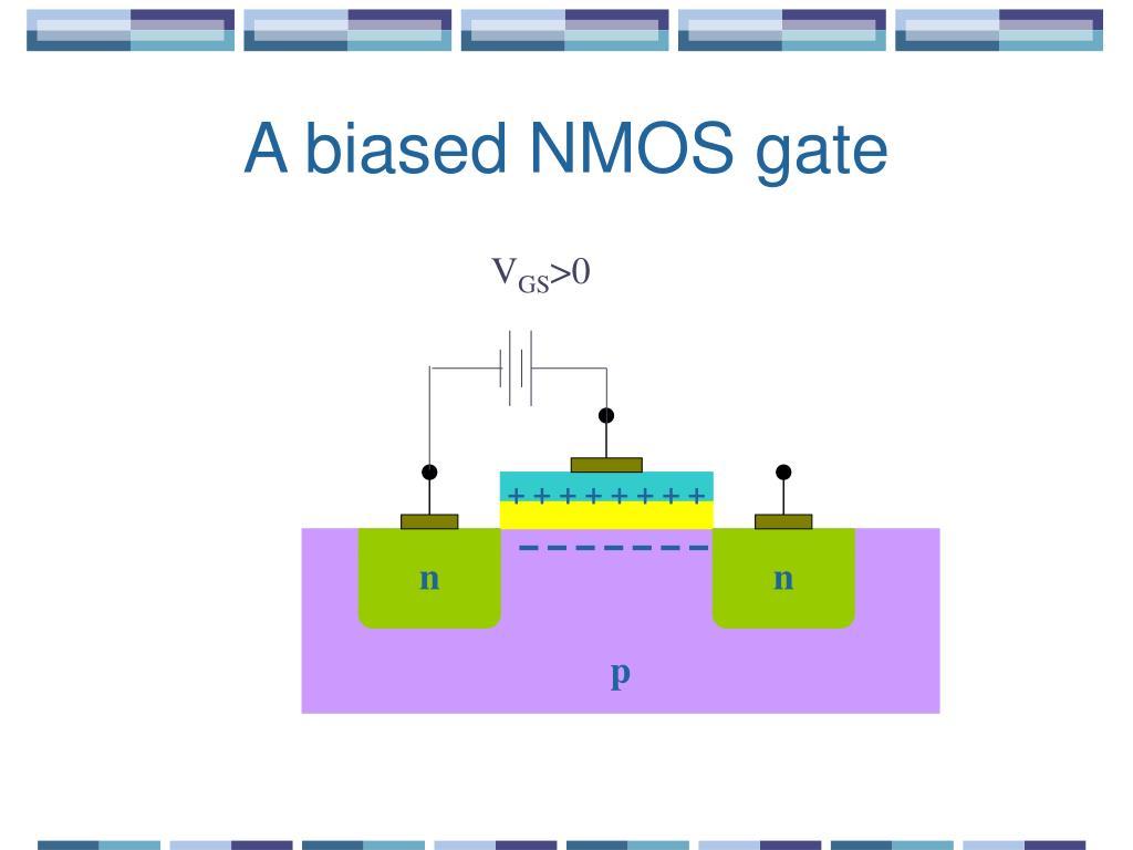 A biased NMOS gate