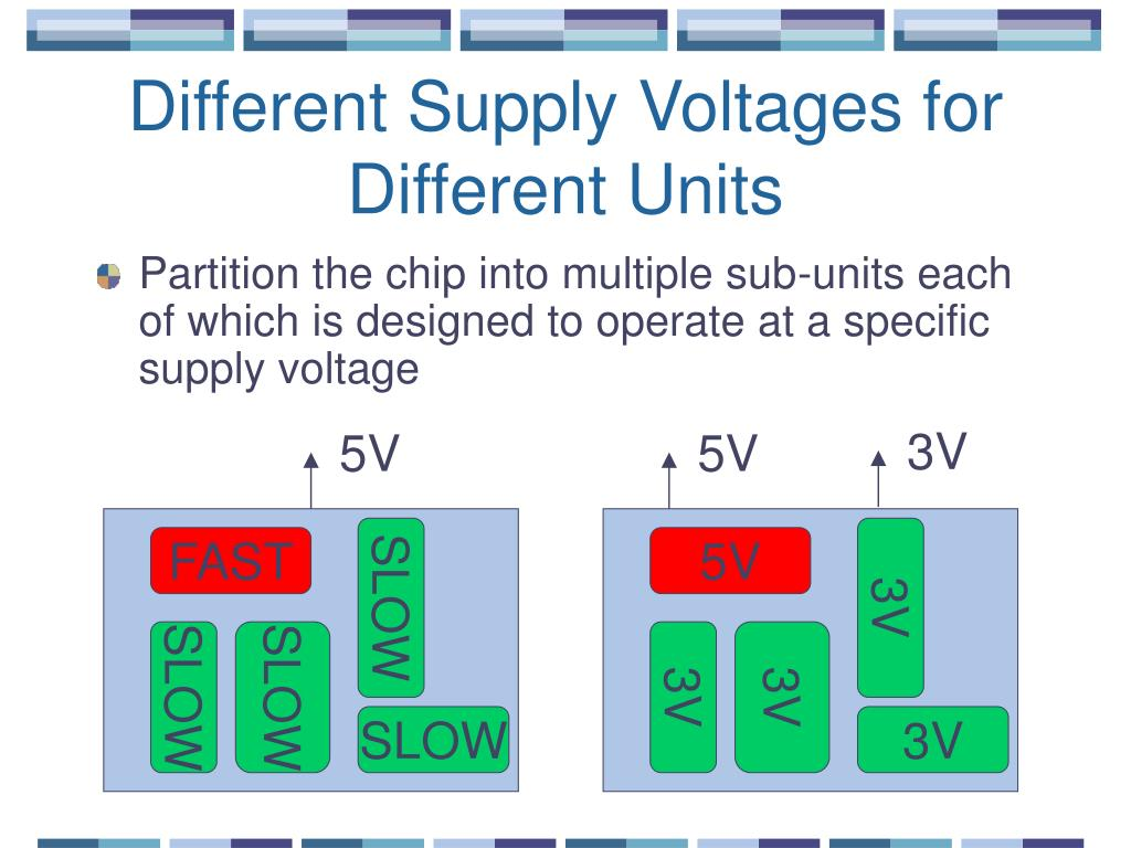 Different Supply Voltages for Different Units