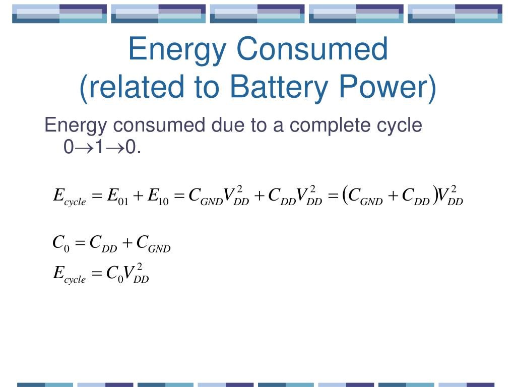 Energy Consumed