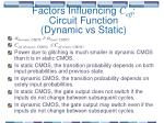 factors influencing c eff circuit function dynamic vs static