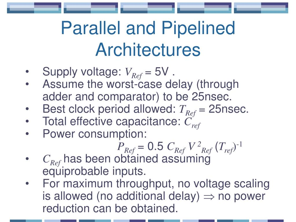 Parallel and Pipelined Architectures