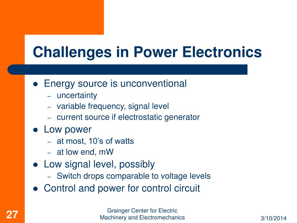 Challenges in Power Electronics