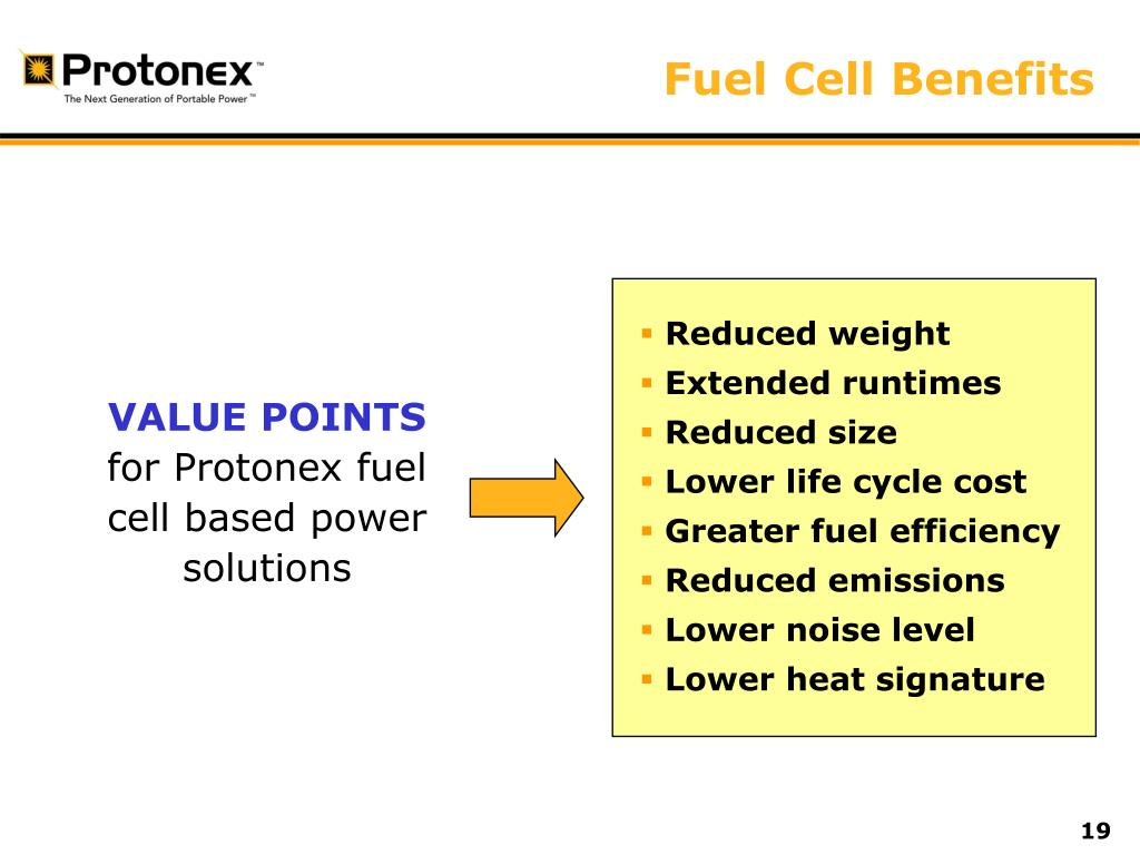Fuel Cell Benefits